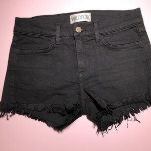 Wildfox denim cut off shorts
